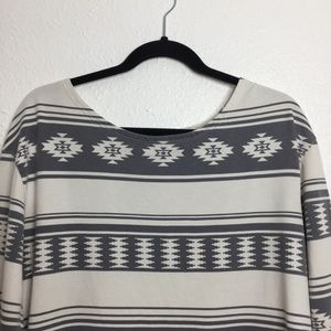 Urban Outfitters Tops - UO Truly Madly Deeply Aztec Tunic Sweater Grey L